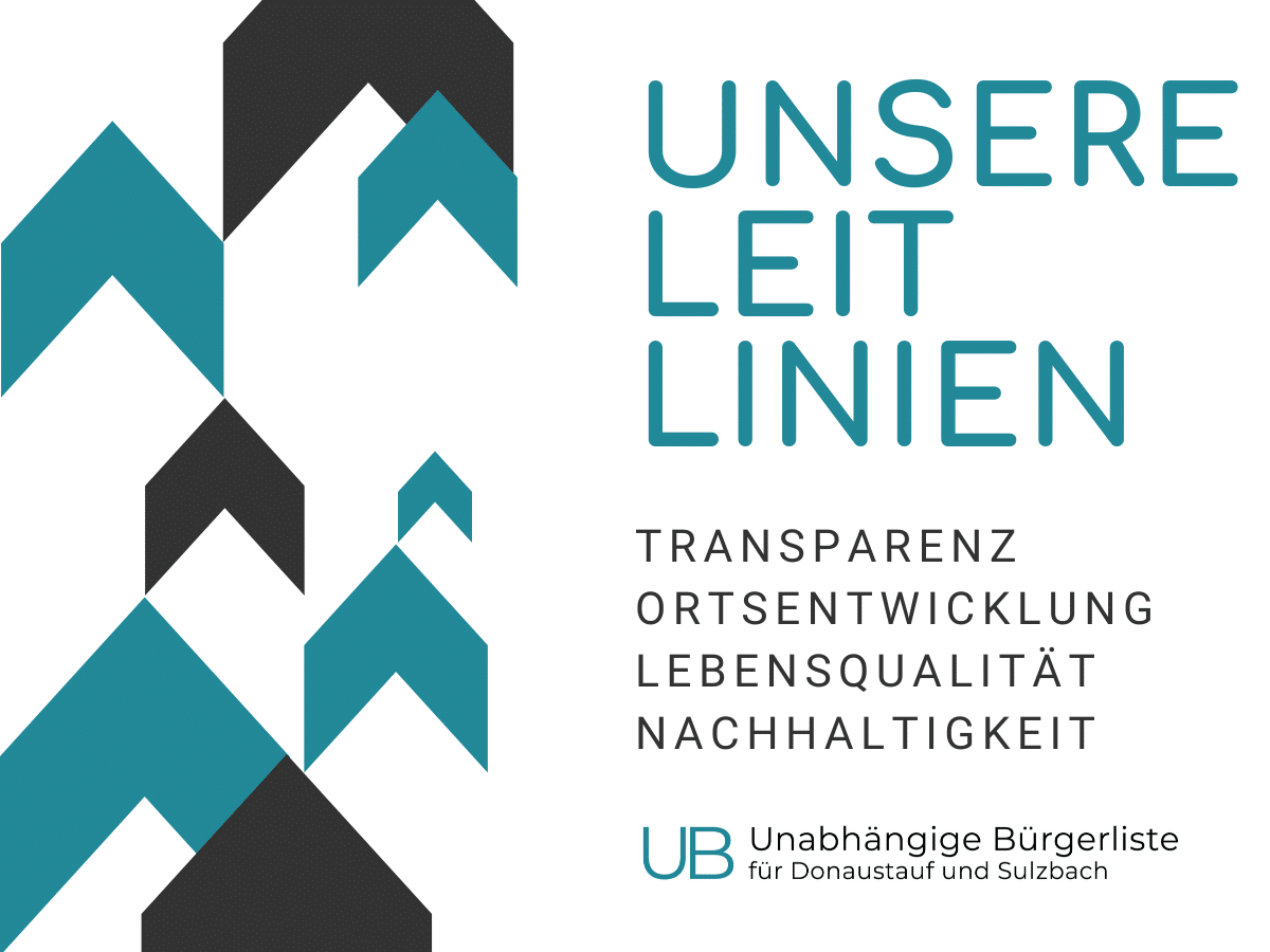 Die Leitlinien der Unabhängigen Bürgerliste für Donaustauf und Sulzbach