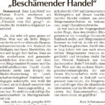 """Leserbrief """"Beschämender Handel"""" aus der Donau Post vom 20. Mai 2020"""
