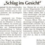 """""""Schlag ins Gesicht"""" - ein Leserbrief aus der Donau Post vom 23. Mai 2020"""